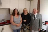 Deputy Leader of Bolton Council, Cllr Linda Thomas, visited tenants at one of Bolton at Home's new housing developments to see their real impact on people's lives.