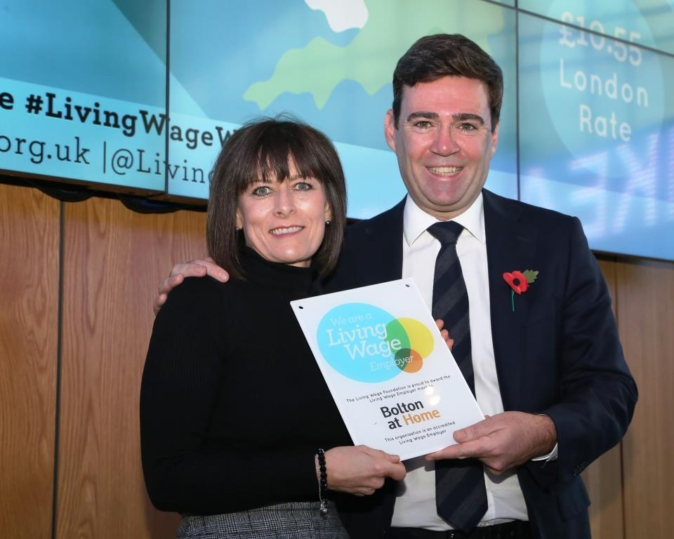 Bolton at Home accredited as Living Wage employer