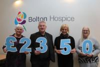 £2,350 cash boost for Bolton Hospice