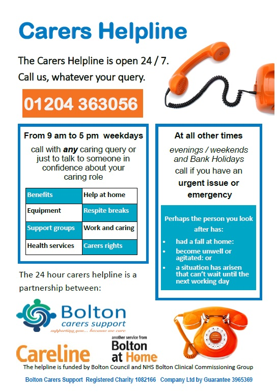 carers helpline