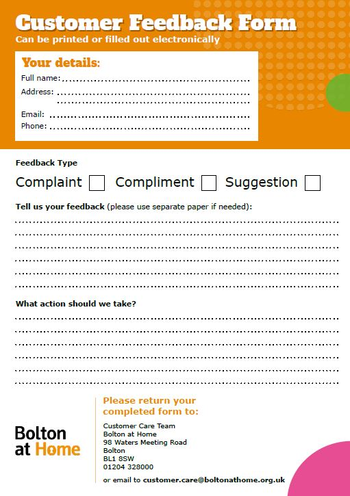 Customer Feedback Form Thumbnail
