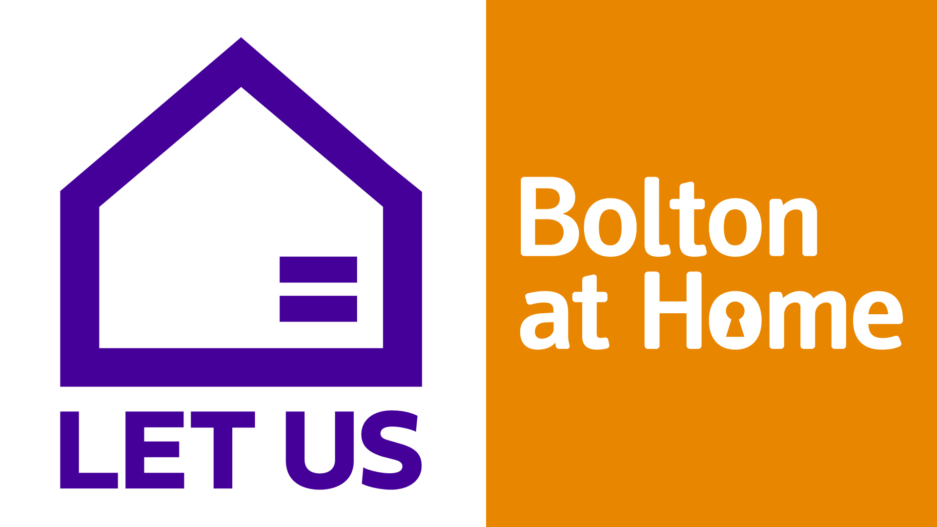 Let us and Bolton at Home logos